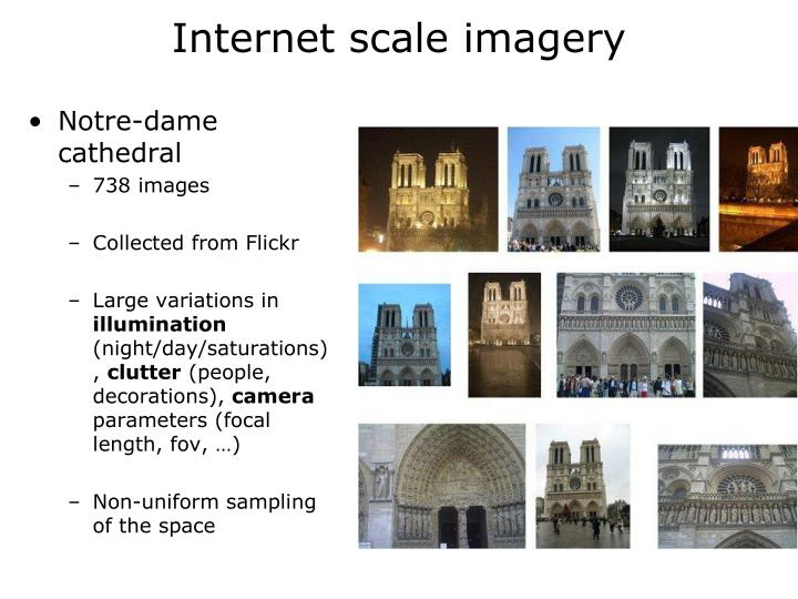 Internet scale imagery