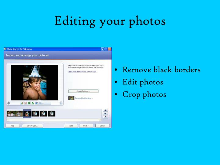 Editing your photos