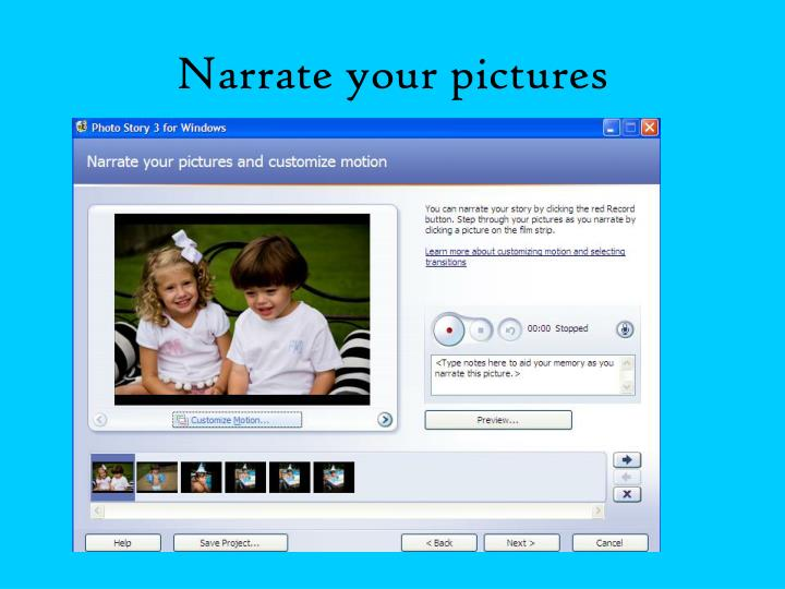 Narrate your pictures