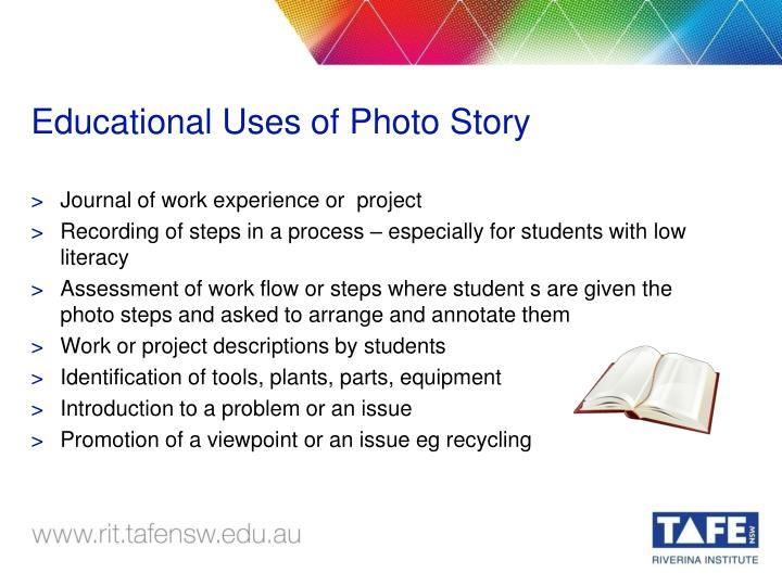 Educational Uses of Photo Story