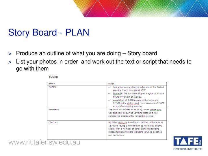 Story Board - PLAN