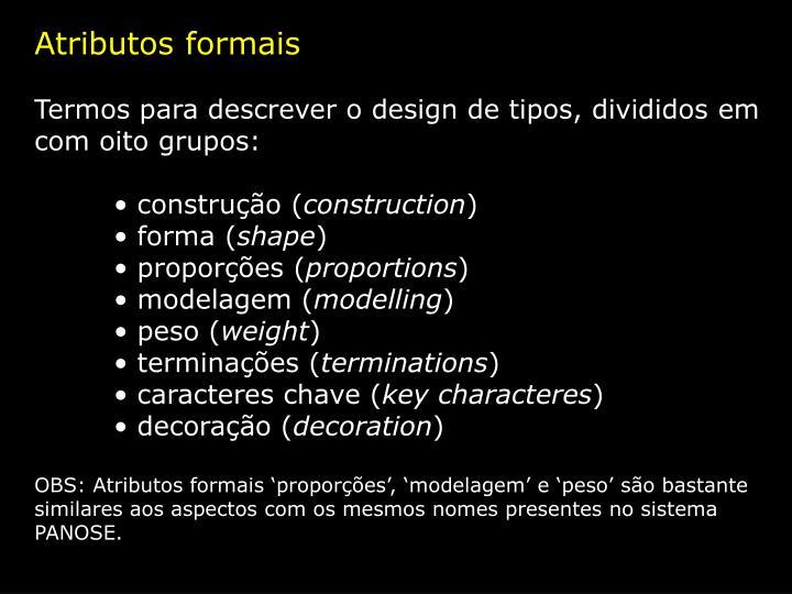 Atributos formais