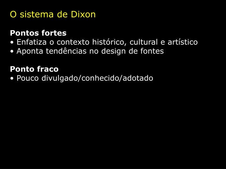 O sistema de Dixon
