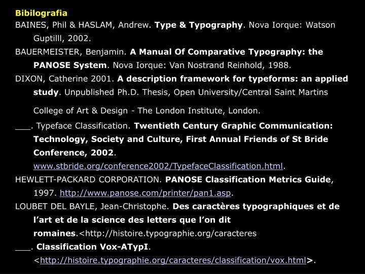 Bibilografia