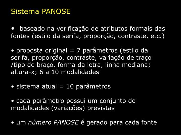 Sistema PANOSE