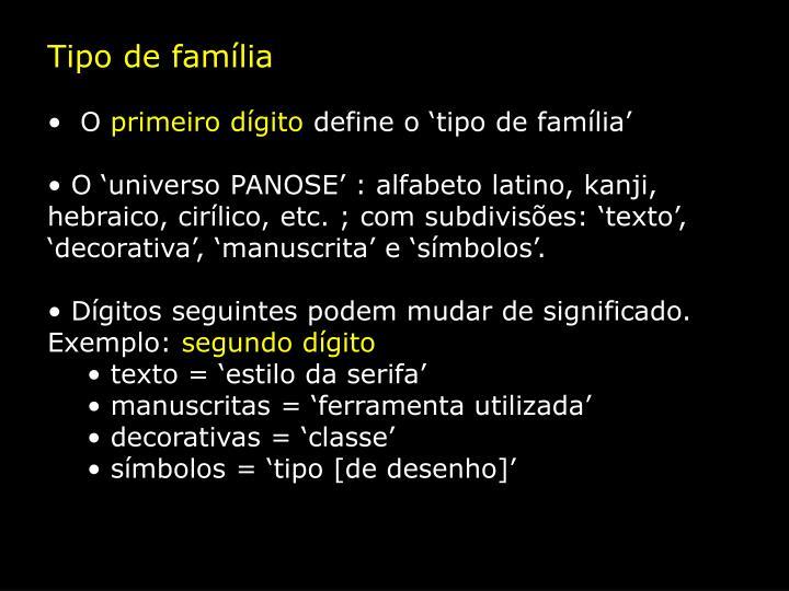 Tipo de família