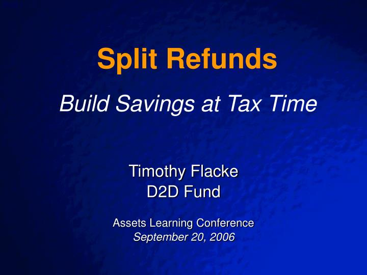 Timothy flacke d2d fund assets learning conference september 20 2006