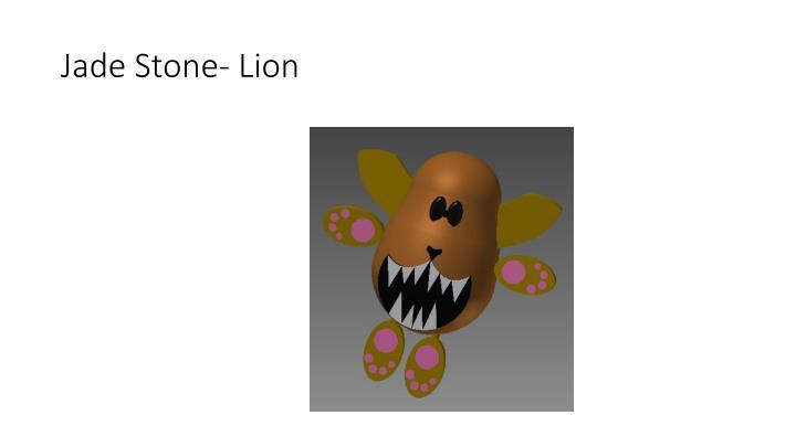 Jade Stone- Lion