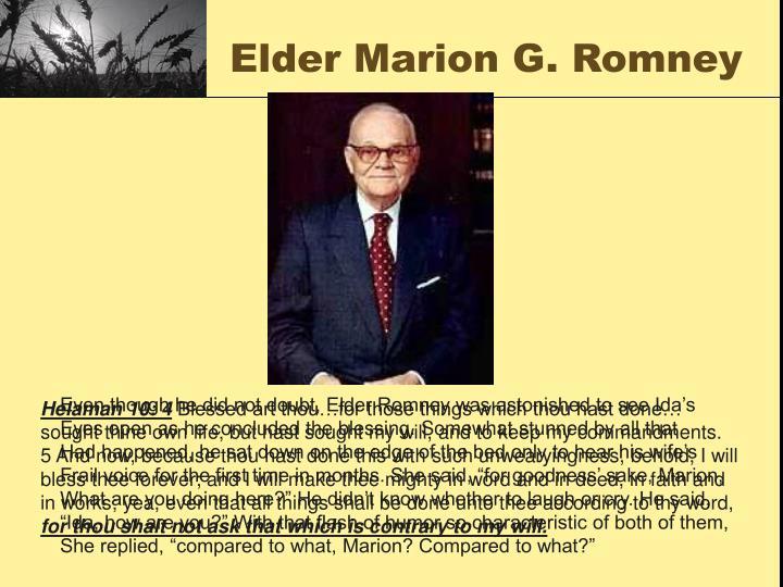 Elder Marion G. Romney