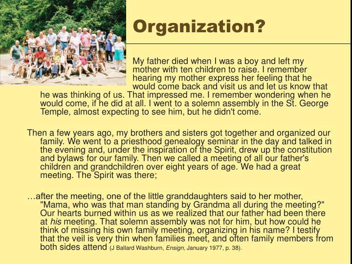 Organization?