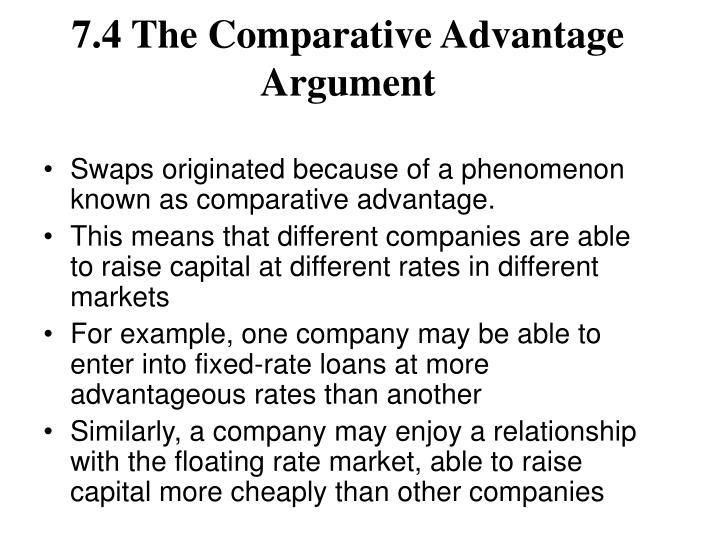 7.4 The Comparative Advantage Argument