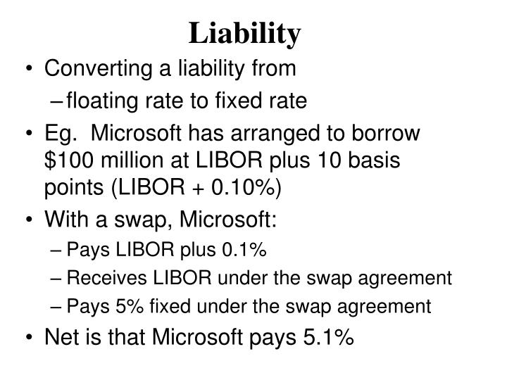 Converting a liability from