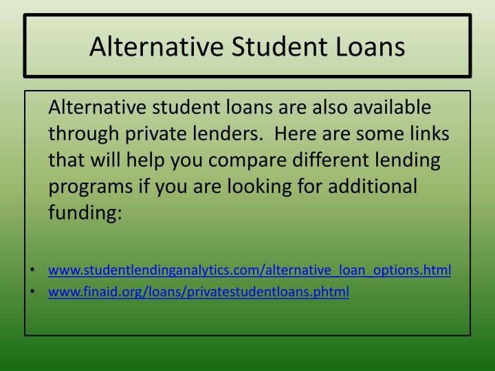 Alternative Student Loans