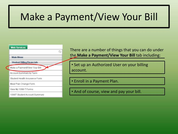 Make a Payment/View Your Bill