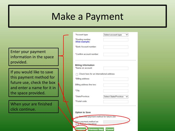 Make a Payment