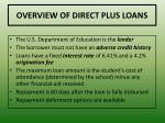 overview of direct plus loans