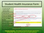 student health insurance form1