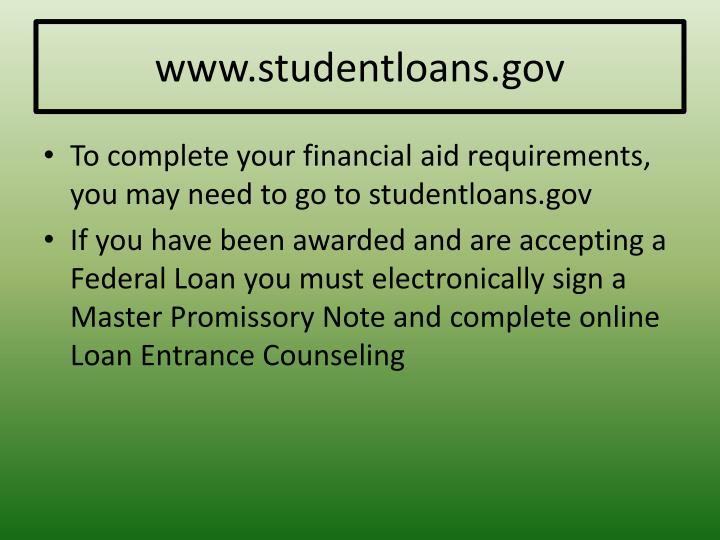 www.studentloans.gov
