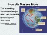 how air masses move