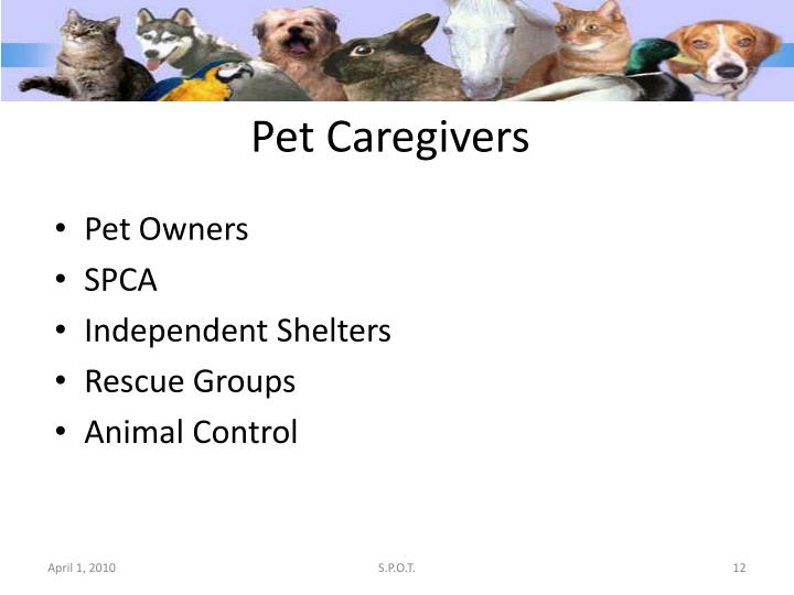 Pet Caregivers