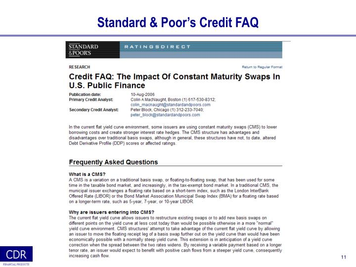Standard & Poor's Credit FAQ