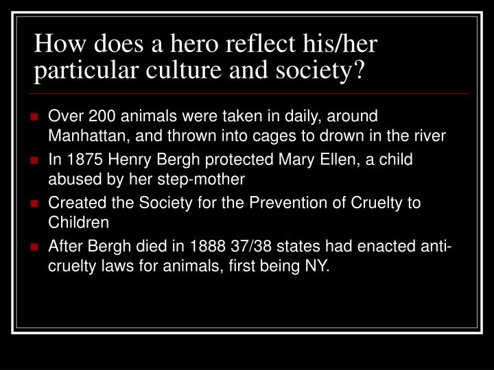 How does a hero reflect his/her particular culture and society?