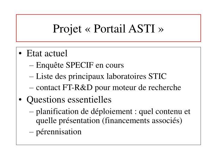 Projet «Portail ASTI»