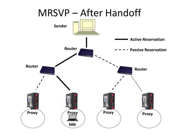 MRSVP – After Handoff