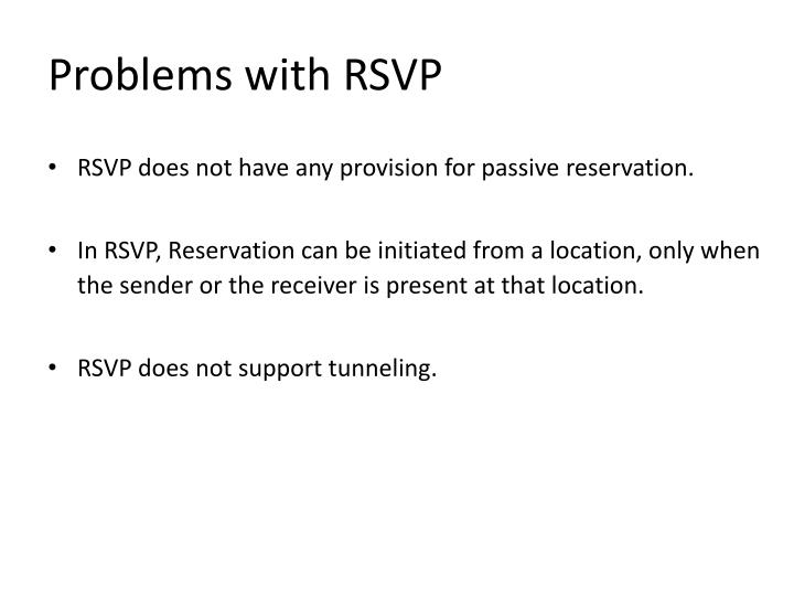Problems with RSVP