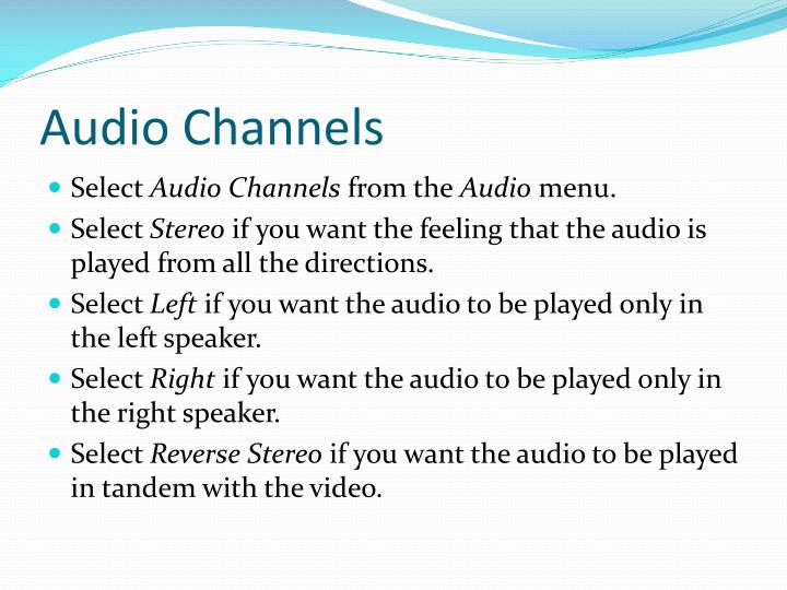 Audio Channels