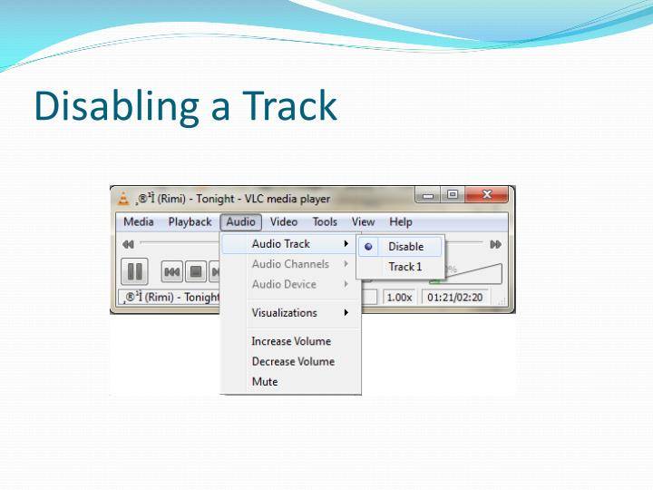 Disabling a Track