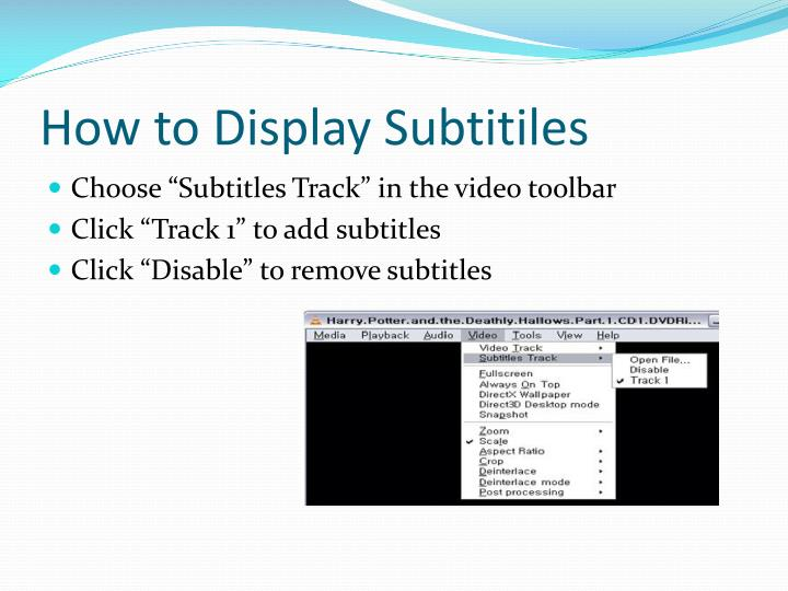 How to Display Subtitiles
