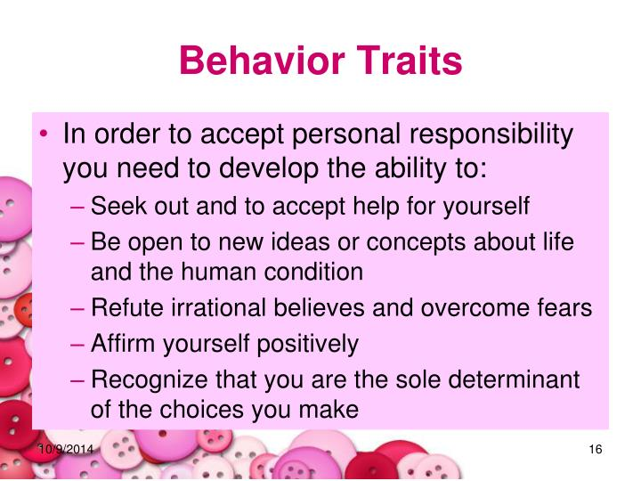 Behavior Traits