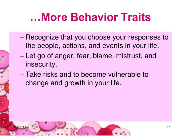 …More Behavior Traits