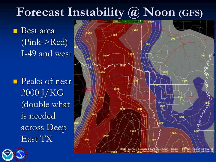 Forecast Instability @ Noon