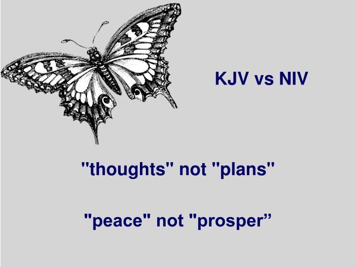 KJV vs NIV