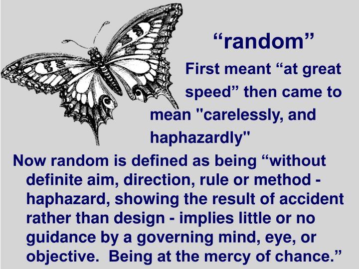 """random"""