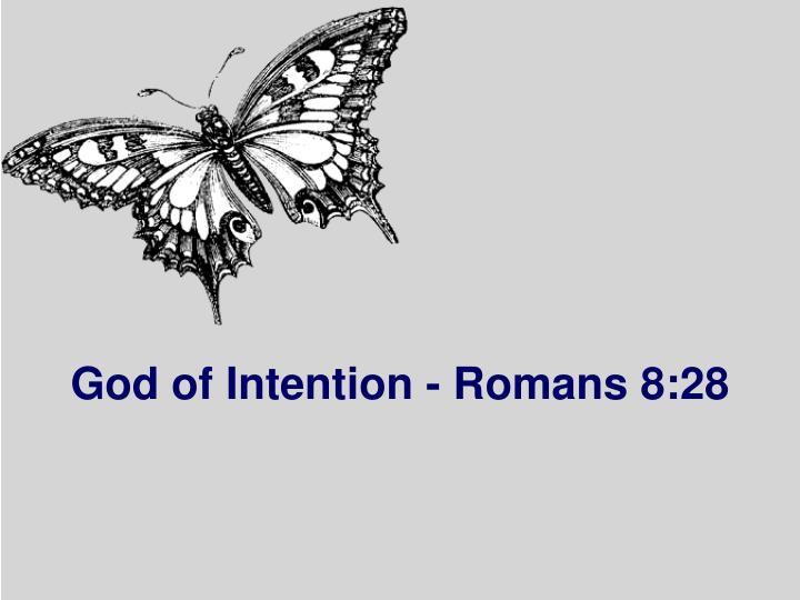 God of Intention - Romans 8:28