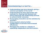 commissioning is a tool for