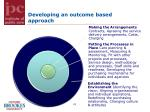 developing an outcome based approach