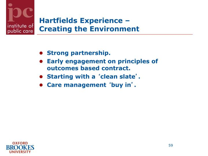 Hartfields Experience –