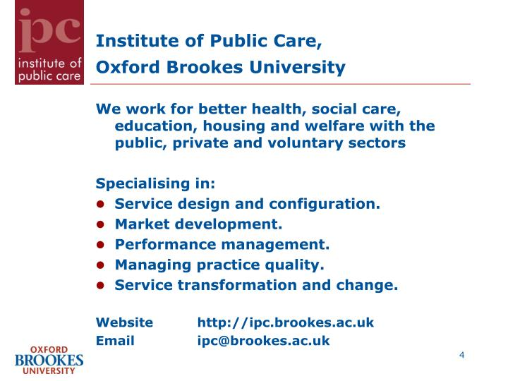 Institute of Public Care,