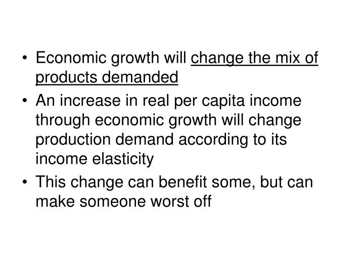 Economic growth will