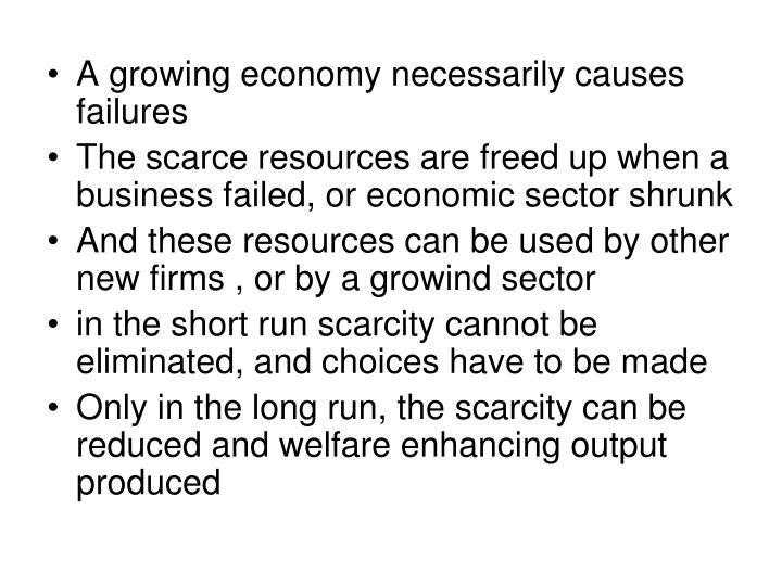 A growing economy necessarily causes failures