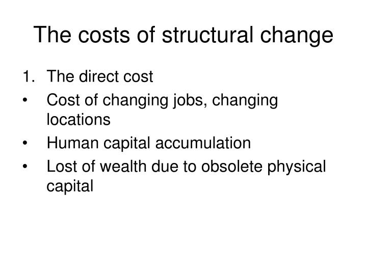 The costs of structural change