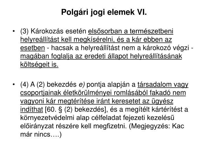 Polgári jogi elemek VI.