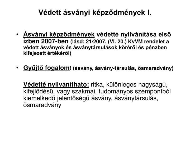 Védett ásványi képződmények I.