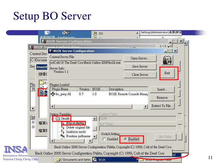 Setup BO Server