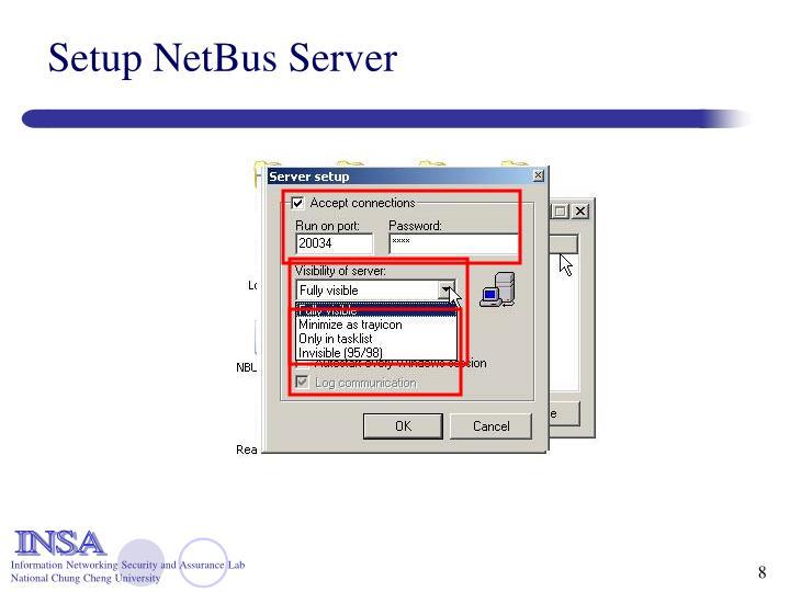 Setup NetBus Server