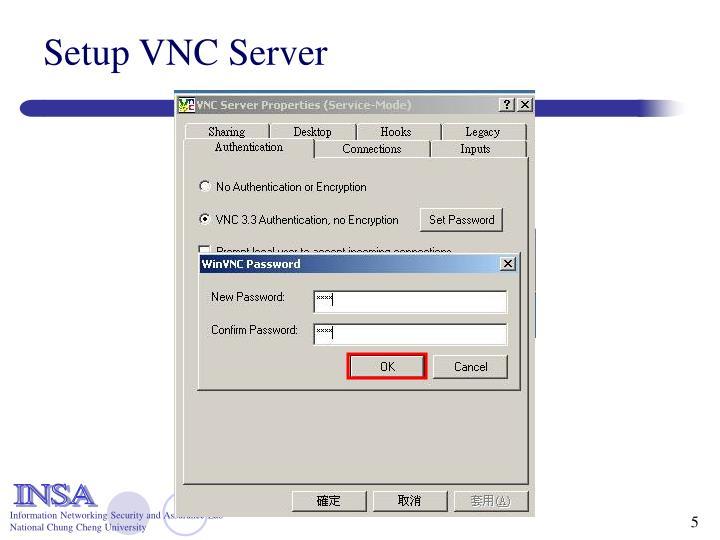 Setup VNC Server